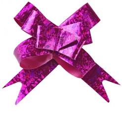 Бант-бабочка №1,2 голография, цвет малиновый